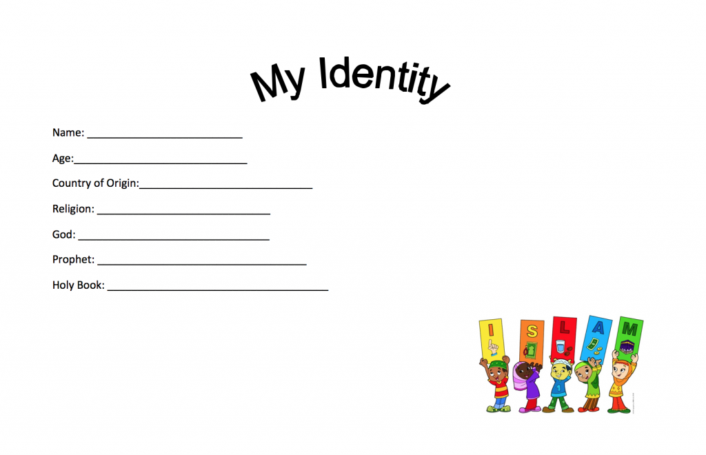 My Identity Basic Worksheet – Safar Resources – Beta