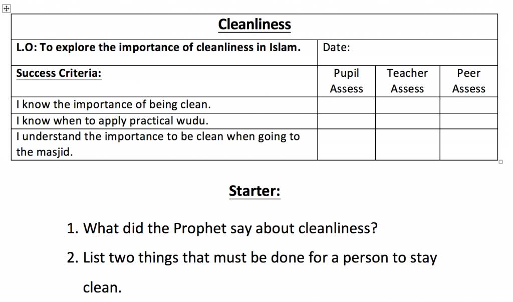 Printable Worksheets islamic studies worksheets : Cleanliness Worksheet – Safar Resources – Beta