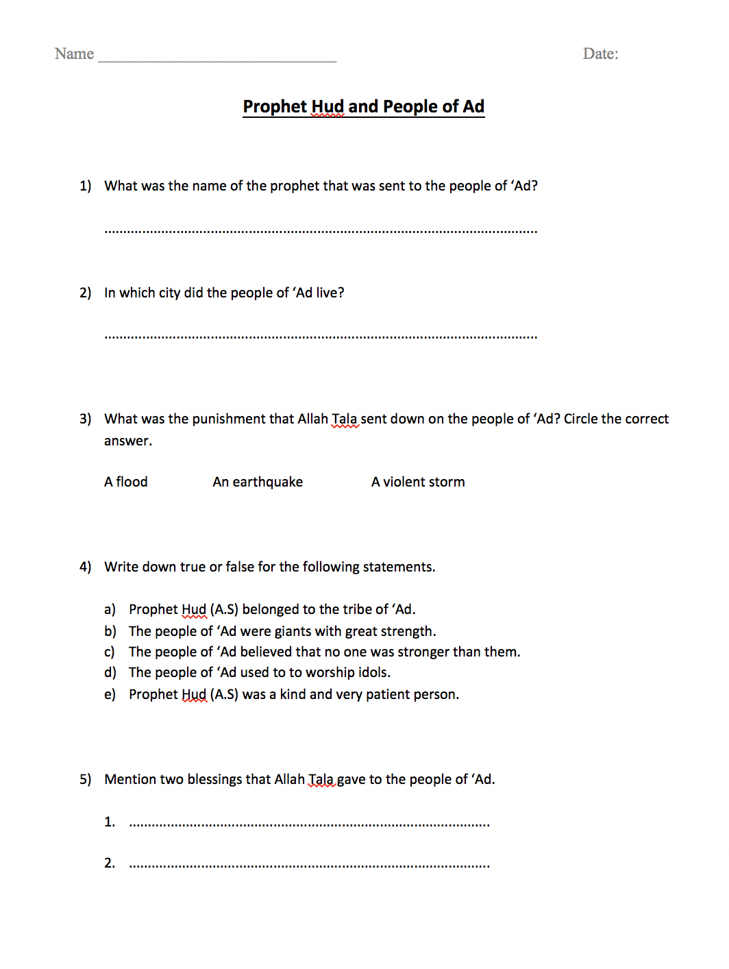worksheet Hud Worksheet prophet hud and the people of ad worksheet safar resources beta filename frm pdf 60 kb