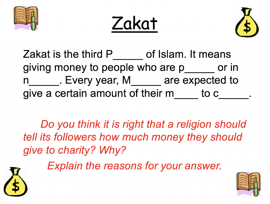 Zakah and Worksheets PP – Safar Resources