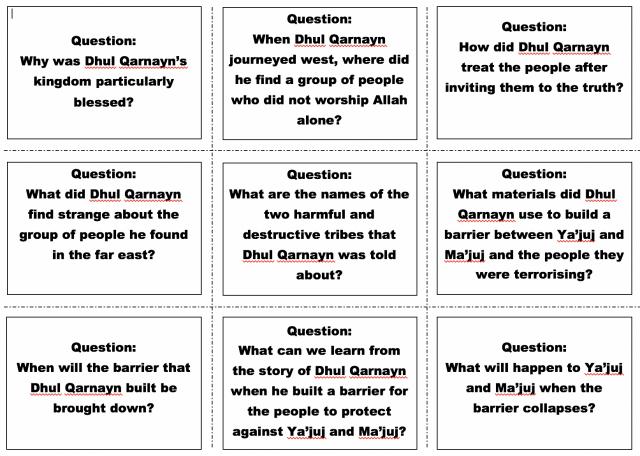 Week 22-23 – Story of Dhul Qarnain – Safar Resources