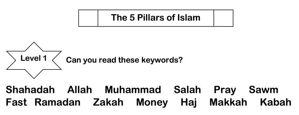 Revision Worksheet Five Pillars Of Islam Safar Resources Beta